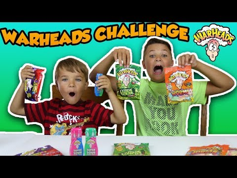 EXTREME SOUR CANDY CHALLENGE!!! WARHEADS HARD CANDY, WORMS, CHEWY CUBES, DROPS Kids Candy Review