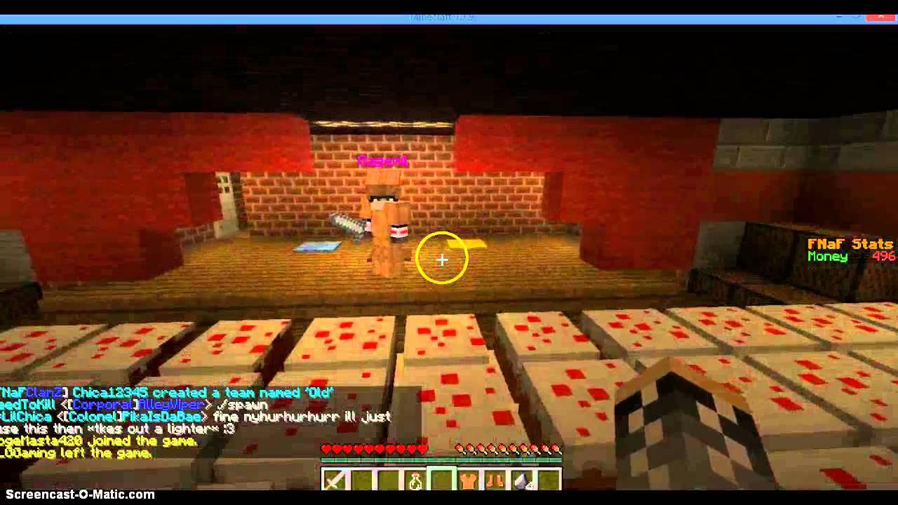 Minecraft fnaf roleplay server youtube