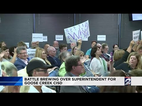 Battle brewing over superintendent for Goose Creek CISD