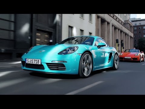 The new Porsche 718 models in motion.