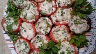 Баклажаны запечённые с сыром и помидорами