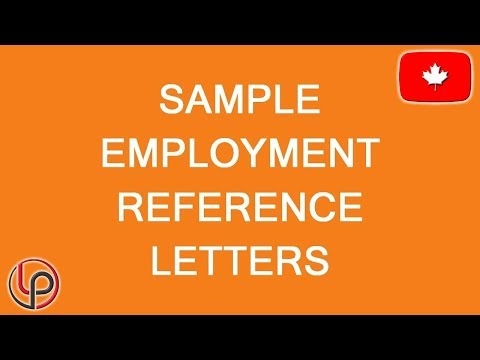 References Samples For Visa And Immigration To Canada. LP Group