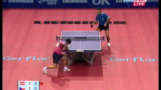 Repeat youtube video Table Tennis - Attack (KORBEL)  Vs Defense (CHEN WEIXING) IV !