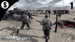 Прохождение Men of War: Assault Squad 2 | Company of Heroes Mod | ( Omaha Beach ) #1