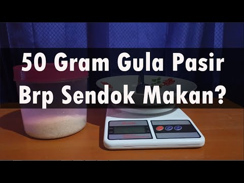 50 Gram Gula Pasir Setara Dengan Berapa Sendok Makan Solusi Takaran Tanpa Timbangan Youtube