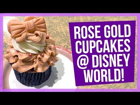 Rose Gold Cupcakes in Walt Disney World!