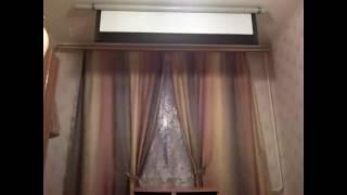 Экран для проектора своими руками с приводом (Screen for projector with your hands with motor)(Экран в ПВХ трубе для домашнего проектора своими руками из баннерного полотна с электроприводом из аккумул..., 2015-06-14T21:36:44.000Z)