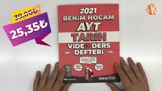 ÇEKİLİŞ VAR   Benim Hocam Yayınları 2021 AYT Tarih Video Ders Defteri - Ramazan Yetgin