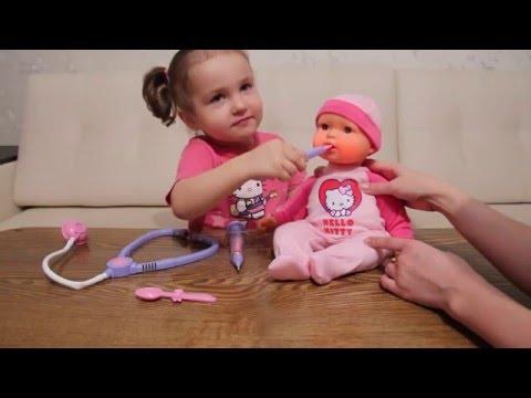Открываем куклу Карапуз Хэллоу Кити Unpacking doll Hello Kitty