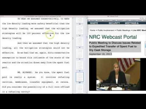 Mr. Alvarez vs NRC Spent Fuel Pool Study!
