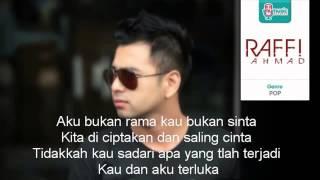 Raffi Ahmad   Bukan Rama Sinta Lyrick Low
