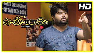 Senjittale En Kadhala Movie Scenes | Arjunan helps Ezhil in finding Madhumila | Abhinaya
