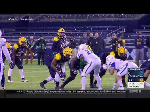 2017 Texas A&M Commerce offense vs West Florida defense - Division II National Championship (CFB)