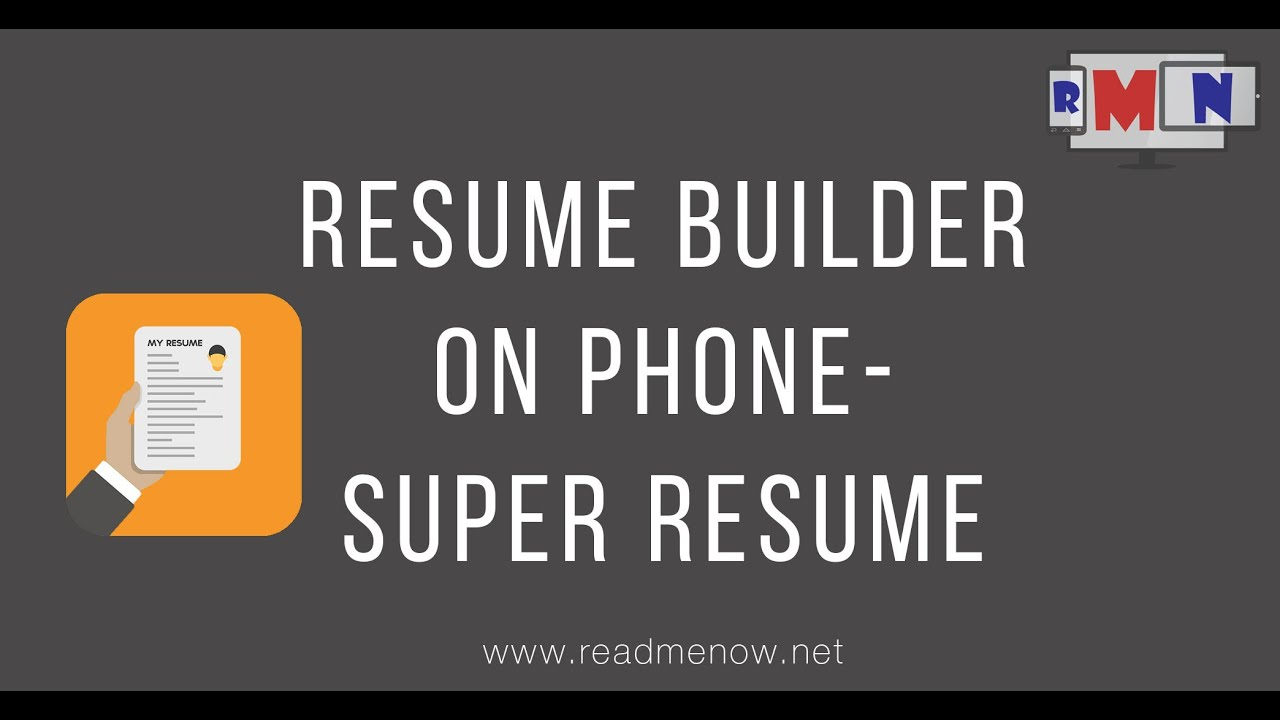 Super Resume Builder   Make Resume On Mobile.   YouTube  Mobile Resume Builder