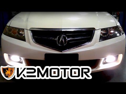 K2MOTOR INSTALLATION VIDEO: 2004 - 2005 ACURA TSX FOG LIGHTS ... on