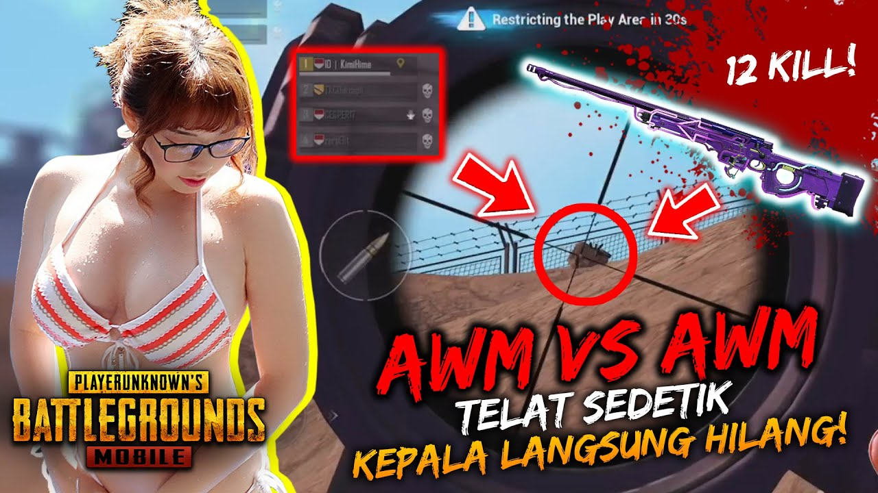 INDONESIA QUEEN OF SNIPER INSANE AWM SNIPING SKILLS! |12 KILL RANDOM SQUAD PRO TIER ACE |PUBG MOBILE