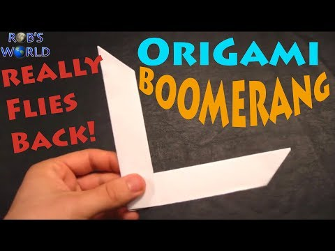 How to Make an Origami Boomerang - Rob