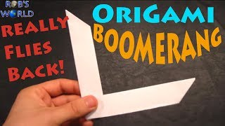 Video How to Make an Origami Boomerang - Rob's World download MP3, 3GP, MP4, WEBM, AVI, FLV Desember 2017