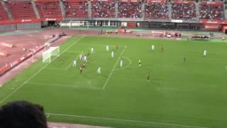 Espectacular parada Biel Ribas. RCD Mallorca 0 - UCAM Murcia 0. Liga 123 16/17