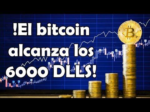 EL PRECIO DEL BITCOIN EN 6000 DOLARES SUPERA EL VALOR DEL ORO!!