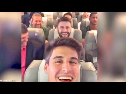 Brazilian Football Team Plane Crash Last Video Onboard #FilipeMachado #ForçaChape #Chapecoense