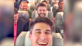 Brazilian Football Team Plane Crash Last Video Onboard #FilipeMachado #ForçaChape #Chapecoense
