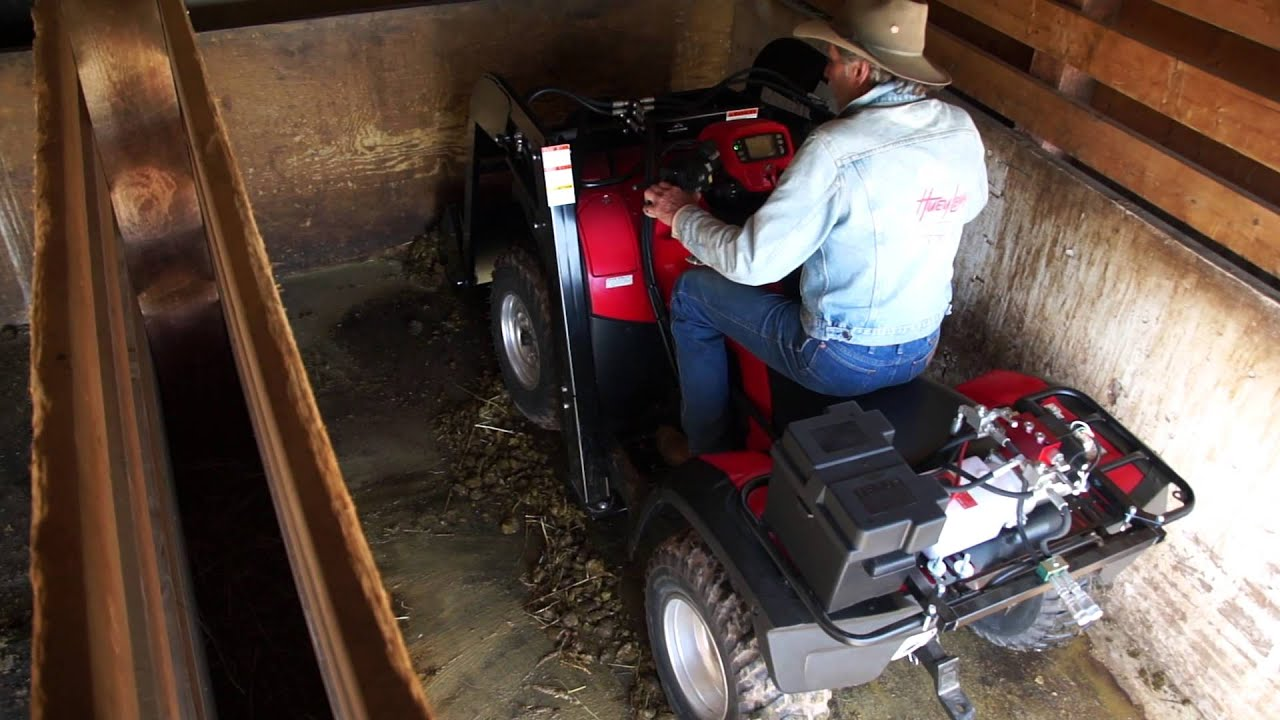 ATV Bucket Loader for Horse Stall Cleaning