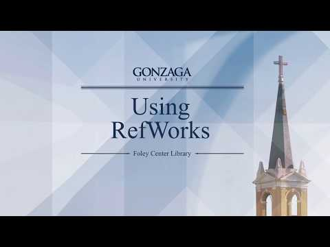Using RefWorks to Organize and Cite Your Research