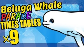 Belgua Whale Teaching Multiplication Times Tables x9 Educational Math Video for Kids