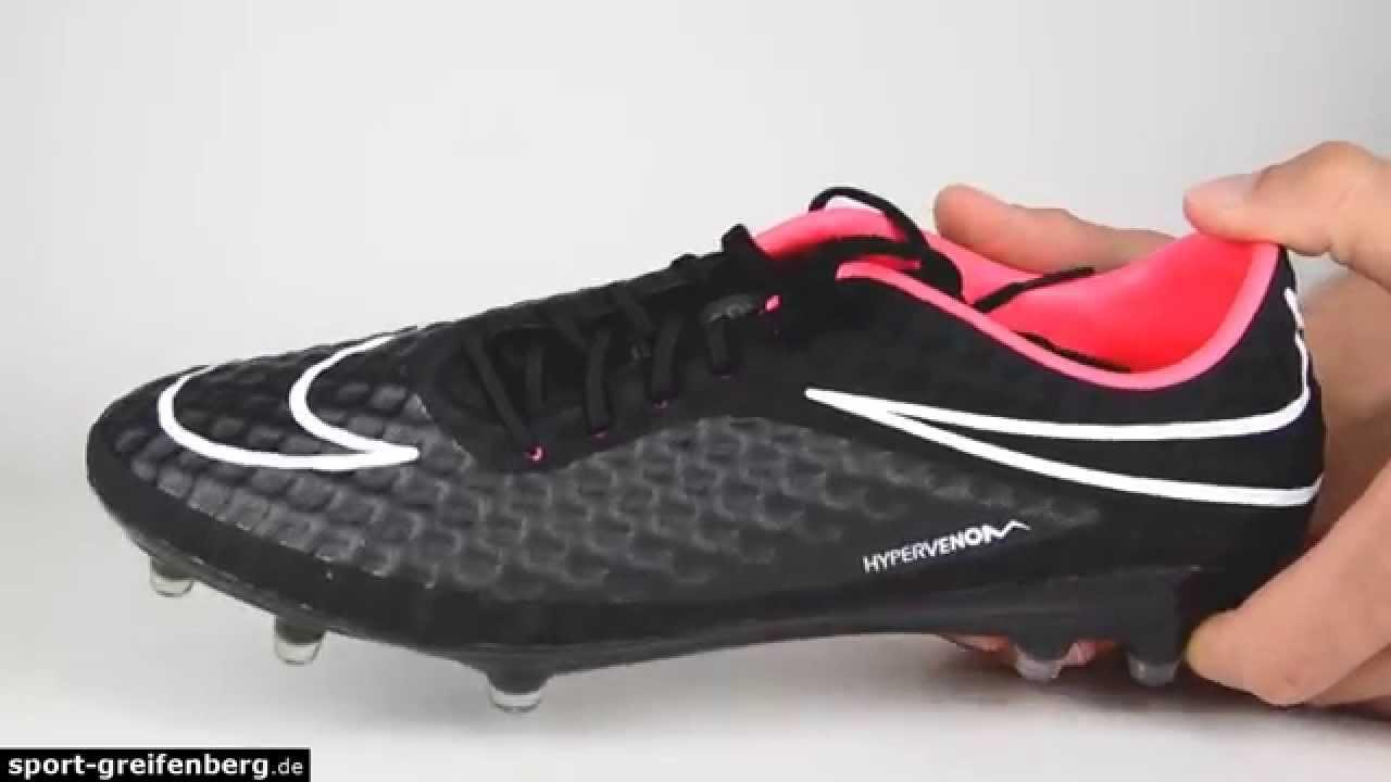 Pionero El respeto Monica  Nike Hypervenom Phantom FG Black Series - YouTube