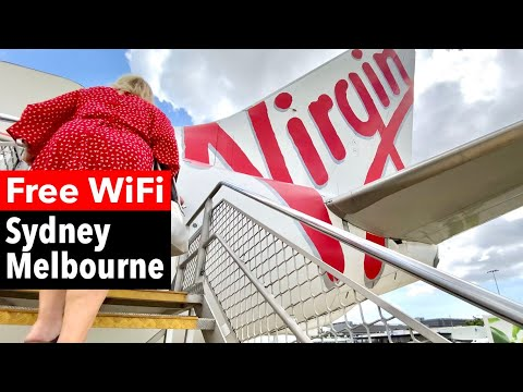 VIRGIN Australia on WORLD'S SECOND BUSIEST ROUTE: Sydney to Melbourne (ECONOMY Class)