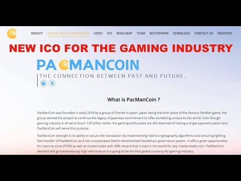 PACMAN COIN-NEW ICO FOR THE GAMING INDUSTRY