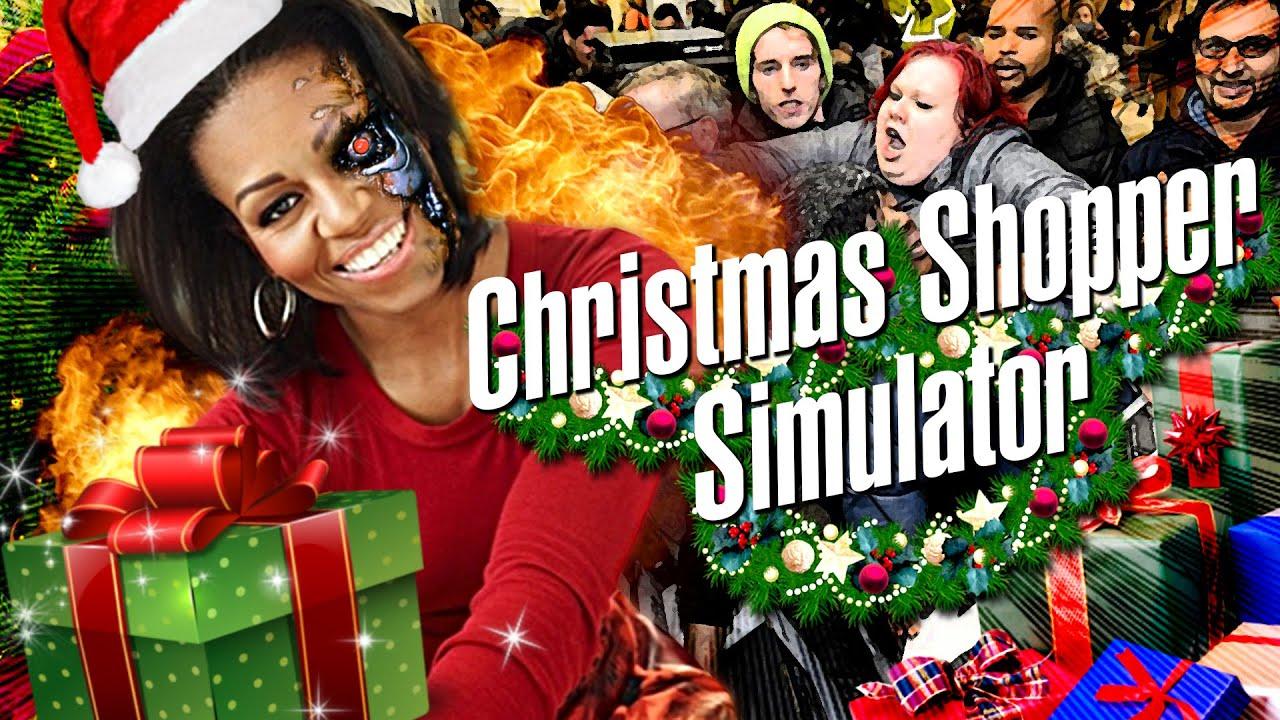 GEORGETTARMINATOR FAIT SON SHOPPING ! [Christmas Shopper Simulator | Let's Play Fr]