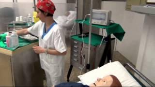 Allestimento di un set infusionale