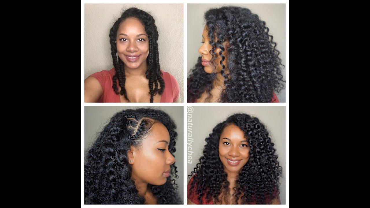 Three Strand Twist Out L Natural Hair Heatless Waves