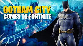 BATMAN BRINGS GOTHAM TO FORTNITE!