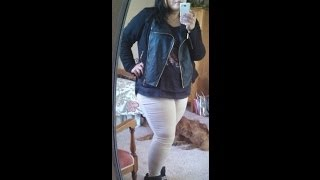 Edgy/Chic black & gold plus size OOTD Thumbnail