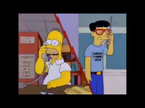The Simpsons - Homer calls Japan