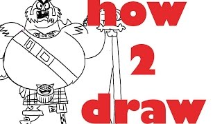 how to draw The scotsman from samurai jack
