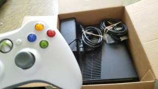 Used Xbox 360 Slim from Gamestop unboxing