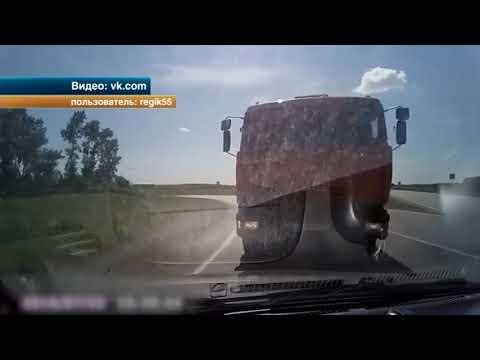 Кадры жуткой аварии под Омском