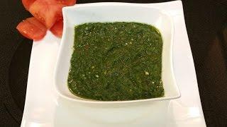 Coriander And Mint Chutney  (green Chutney) دھنیے پودینے کی چٹنی