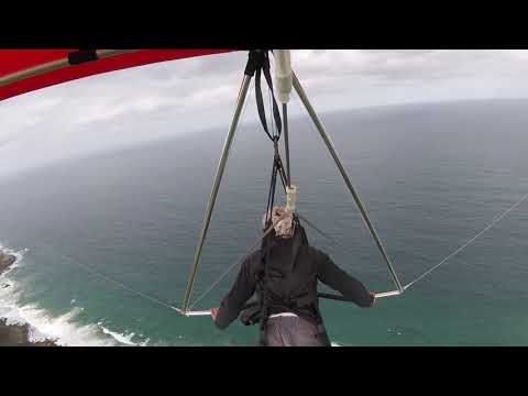 Early solo soaring flight Stanwell Park