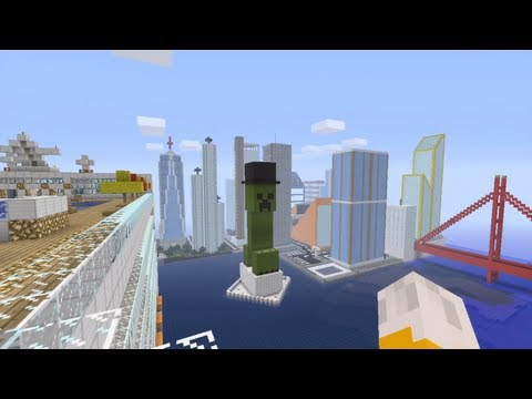 Minecraft Xbox - The City Outskirts - Newport City Tour - Part 3
