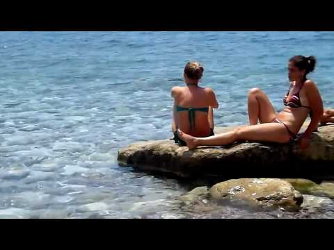 #Черногория Девушки на пляже подсмотренное (#Montenegro. Girls on the beach spied)