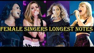 LONGEST NOTES -Famous Female Singers