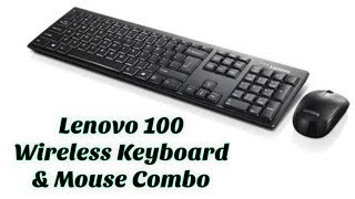 Lenovo 100 Wireless Keyboard & Mouse Combo GX30L66303 | Unboxing & Review