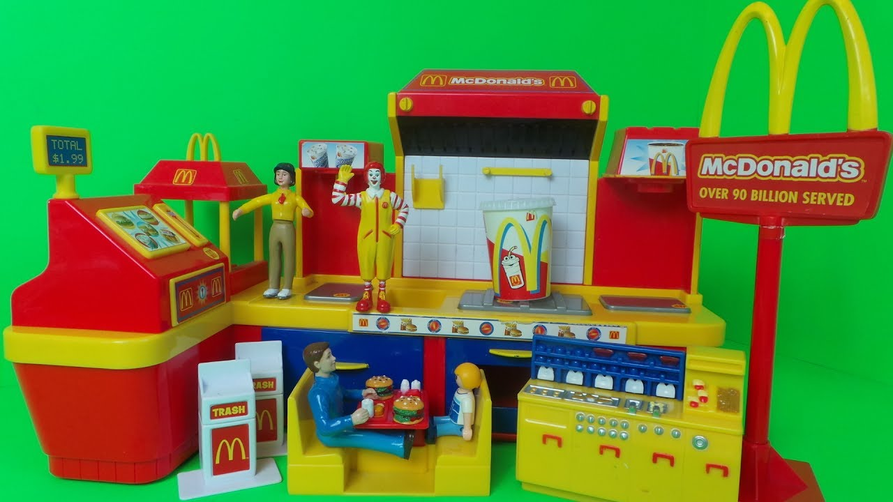 Mcdonald S Electronic Fast Food Center Kids Play Set Video