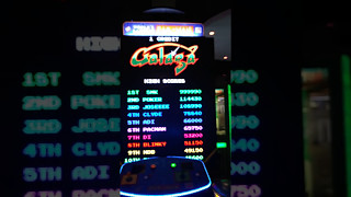 Galaga [World's Largest Pacman Game] - Arcade - 999,990 (Initials Only)
