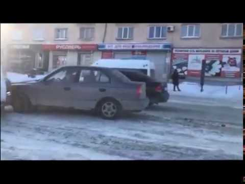 ДТП с иномарками и маршруткой в Челябинске